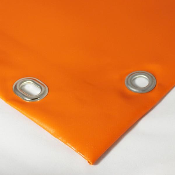 PVC matt mit Saum und Ovalösen alle 100cm, orange dunkel