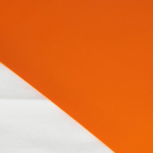 PVC matt ohne Saum und ohne Ösen, orange dunkel