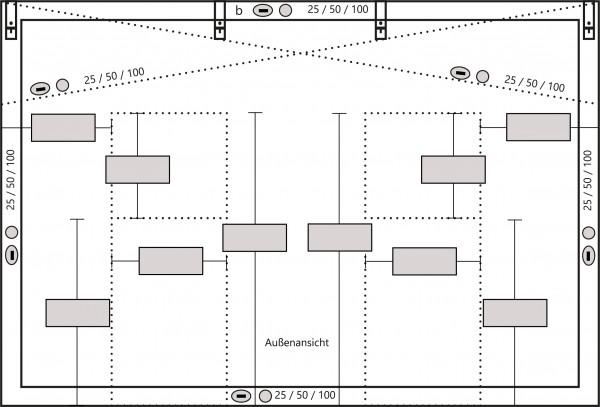 PVC-Plane mit Tür oder Fenster 680g/m² nach Maß!