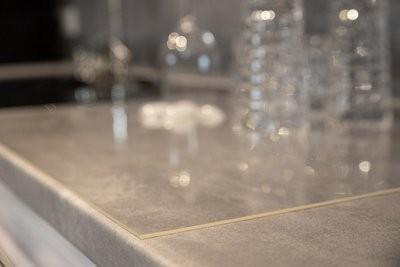 Tischdecke 80cm breit / 2,2mm stark PVC transparent/klar
